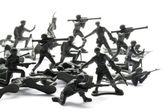 Attacking soldiers — Stock Photo