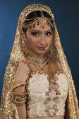Attractive indian bride — Stock Photo