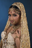 Attractive indian bride looking at camera — Stock Photo