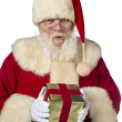 879 santclaus holding gift box — Stock Photo #22072537