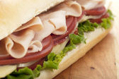 885 ham sandwich — Stock Photo