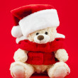 947 cute christmas teddy bear — Stock Photo