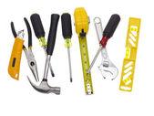 Pochi strumenti su bianco — Foto Stock