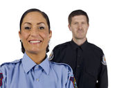 A happy policewoman — Stock Photo