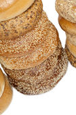 A pile of bagel breads — Stock Photo