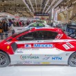Постер, плакат: Mitsubishi Motors Electric race car side