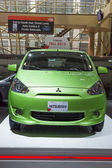 2013 Mitsubishi At Car Show green — Stock Photo
