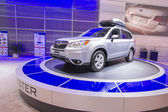 2013 subaru forest suv truck grey with roof rack 1 — Stock Photo