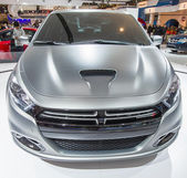 2013 doge dart gümüş araba göster — Stok fotoğraf