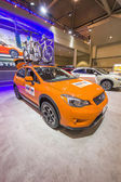 2013 Subaru XV Crosstrek car image orange side — Stock Photo