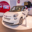 2014 Fiat Turbo Car White — Stock Photo