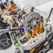 Car engine cutaway detailed motor — Stock Photo