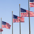 A pole of american flag — Stock Photo