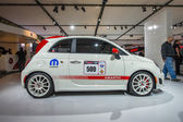 2013 White Abarth car with racing package images 1 — Stock Photo