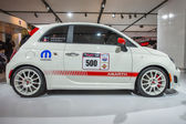 2013 White Abarth car with racing package images 2 — Stock Photo
