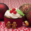 Cupcakes full of decorations — Stock Photo