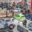 Stock Photo: Car Show Floor Panoramic Photo