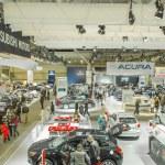 Car Show Floor Panoramic Photo — Stock Photo