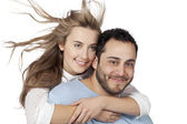 A wife hugging her husband — Stock Photo
