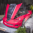 Stock Photo: Classic corvette auto at the car show