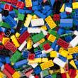 Assorted plastic toy bricks — Stock Photo