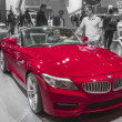 2014 bmw convertable red sports car - Stok fotoğraf