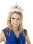 En kvinna med en krona — Stockfoto