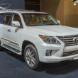 Stock Photo: 2014 Lexus LS SUV Truck white