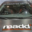 Stockfoto: MADD campaign at car show