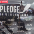 Foto Stock: MADD campaign at car show