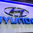 Hyundai Logo at car show — Stock Photo #23883651