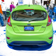 2014 Ford Fiesto green hatchback car — Stock Photo