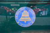 Bell Canada truck and logo from car show — Stock Photo