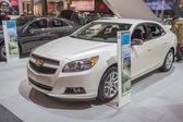 2014 Chevrolet Malibu white — Stock Photo