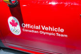 2014 Mini Coupe Official Vehicle Canadian Olympic Team — Stock Photo