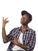 African american man gesturing — Stock Photo