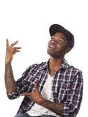 African american man gesturing — Stock Photo