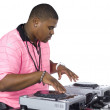 Stock Photo: Africamericmplaying music in dj machine