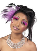 African american woman wearing pink make up — Stock Photo