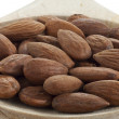 Almond nuts closeup - Stock Photo