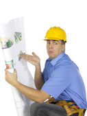 Architect with plan — Stock Photo