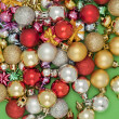 Assorted christmas balls — Stock Photo