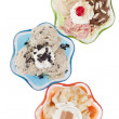 Assorted flavors of frozen yogurt — 图库照片