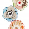 Assorted flavors of frozen yogurt — Stok fotoğraf