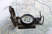 Army prismatic compass — Stock Photo
