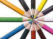 Geassorteerde kleuren potloden — Stockfoto