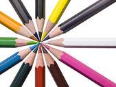 Lápices de colores surtidos — Foto de Stock