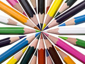Assorted coloring pencils — Stock Photo