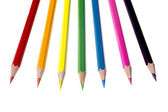 Assorted coloured pencil — Stock Photo