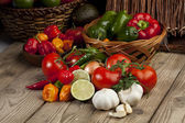 Assorted kinds of vegetable ingredients — Stock Photo